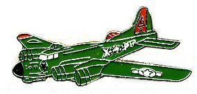 12 Pins - BOMBER PLANE , airplane hat lapel pin #666 Bonanza