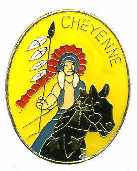 12 Pins - CHEYENNE INDIAN native american hat pin #224