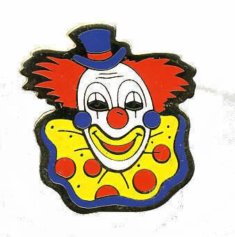 12 Pins - CIRCUS CLOWN , hat tac lapel cap pin #217 Bonanza