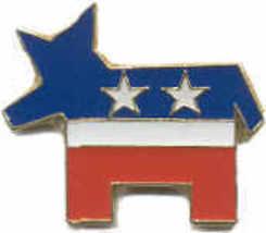 12 Pins - Democrat Party Donkey Democratic Cap Pin #499 - $9.50