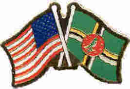 12 Pins - DOMINICA w/ AMERICAN FLAG , flags pin #535 - $9.50