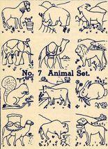 1930s Embroidery Iron-on Transfers Animals Wild Quilt Depression 30s - $4.99