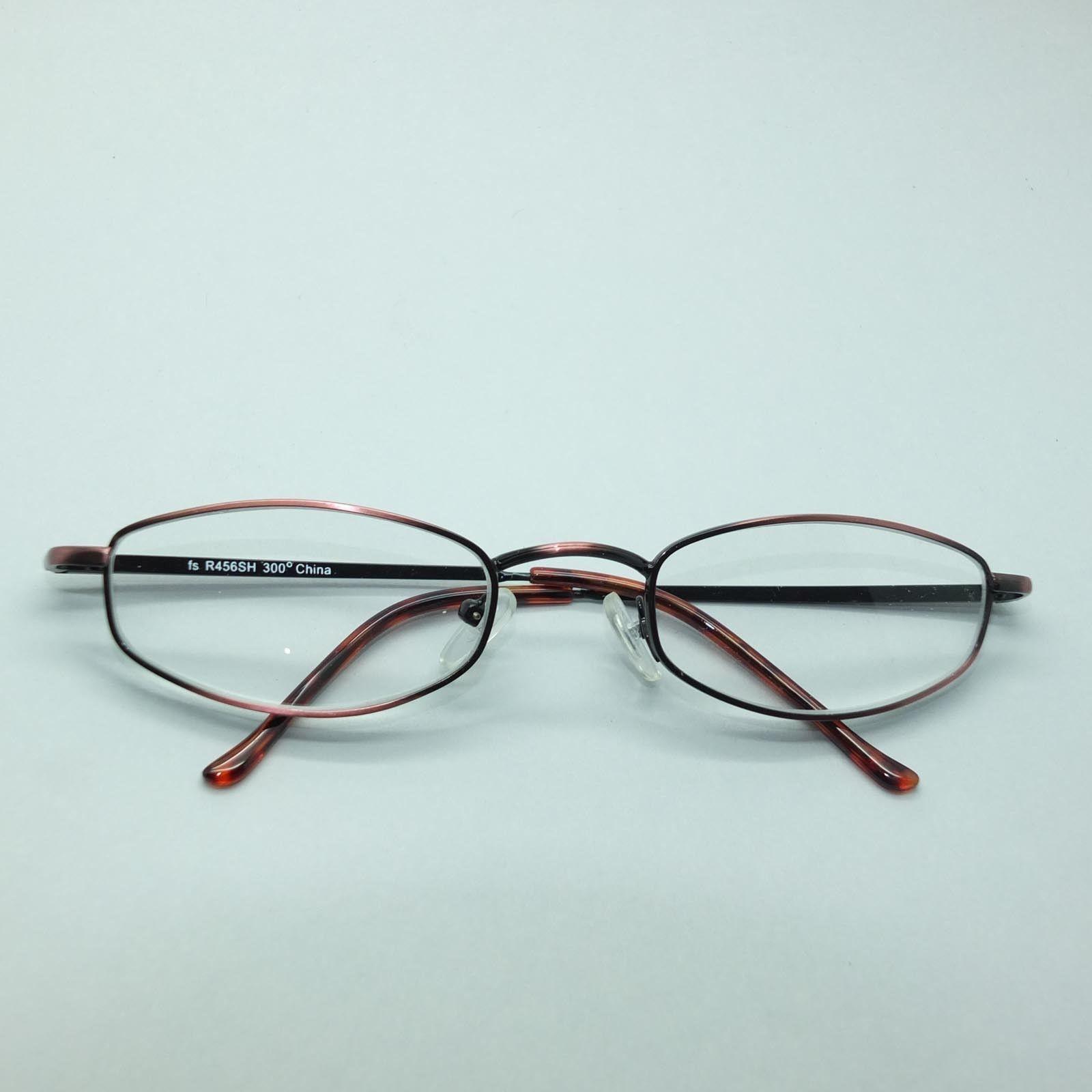 Reading Glasses Bronze Metal Oval Octagon Narrow Hip +3.00 Lens Strength image 4