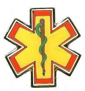 12 Pins - EMT SYMBOL emergency medical pin 724