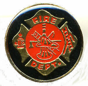12 Pins - FIRE DEPARTMENT , fighter hat lapel pin #239