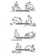 1930s Embroidery Iron-on Transfers Bunny Rabbit Cottontail Quilt 30s - $5.99