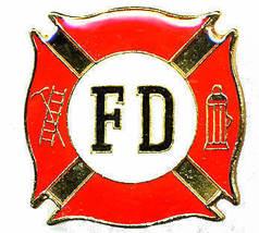 12 Pins - FIRE DEPARTMENT fd fighter lapel cap pin #237 - $9.50