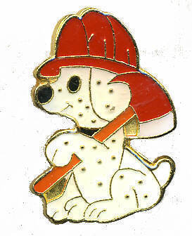 12 Pins - FIREFIGHTER DALMATION DOG fire lapel pin 238
