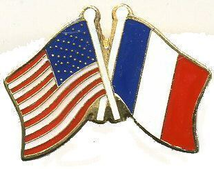 12 Pins - FRANCE & AMERICAN FLAG , french lapel pin 727