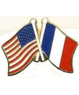12 Pins - FRANCE & AMERICAN FLAG , french lapel pin 727 - $9.50
