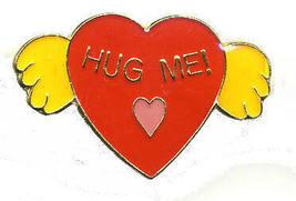 12 Pins - HEART w/ HUG ME , hugs hat lapel cap pin #194 - $9.50