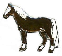 12 Pins - HORSE , hat tac lapel pin #342 - $9.50