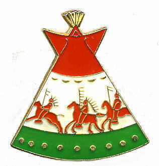 12 Pins - INDIAN TEPEE , native american lapel pin #222