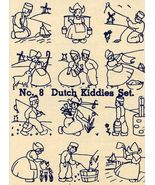 1930s Embroidery Iron-on Transfers Dutch Child Quilt Depression 30s Proh... - $4.99