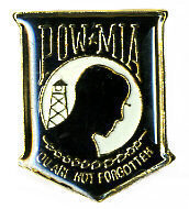 12 Pins - POW MIA YOU ARE NOT FORGOTTEN shield pin #8