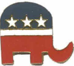 12 Pins - REPUBLICAN ELEPHANT , hat cap lapel pin #498 - $9.50