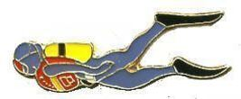 12 Pins - SCUBA DIVER , diving hat lapel pin 697 - $9.50