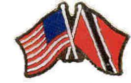 12 Pins - TRINIDAD w/ AMERICAN FLAG , flags pin #542 - $9.50
