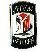 12 Pins - VIETNAM VETERAN , vet flag hat lapel pin #31 - $9.50