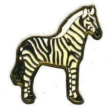 12 Pins - ZEBRA , hat tac lapel pin #343 - $9.50