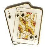 12 Pins AJ DIAMONDS blackjack hand 21 ace jack pin 749