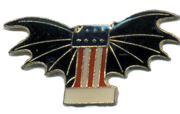 12 Pins - #1 AMERICAN FLAG w/ WINGS usa lapel pin #4556 Bonanza