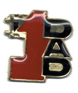12 Pins - #1 DAD , father hat lapel pin #1969 - $9.00