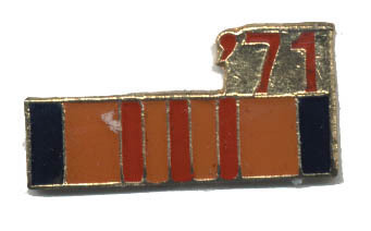 12 Pins - '71 , 1971 vietnam war veteran pin #4756 Bonanza
