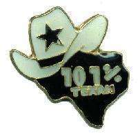 12 Pins - 101% TEXAN , cowboy hat texas lapel pin #4766 Bonanza