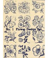 1930s Embroidery Iron-onTransfers Flower Quilt Floral Depression 30s Pro... - $4.99