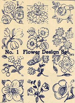 1930s Embroidery Iron-onTransfers Flower Quilt Floral Depression 30s Prohibition