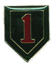12 Pins - 1ST INFANTRY DIVISION army hat lapel pin 1925 Bonanza