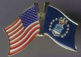 12 Pins - Air Force & American Flags , Usaf Pin #4936 - $9.00