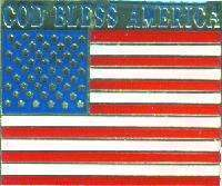 12 Pins - AMERICAN FLAG w/ GOD BLESS AMERICA pin #4867 Bonanza