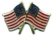 12 Pins - AMERICAN FLAGS , flag hat lapel pin #560 Bonanza