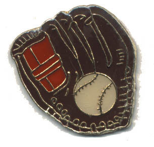 12 Pins - BASEBALL GLOVE AND BALL , hat lapel pin #1819 Bonanza