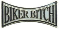 12 Pins - BIKER BITCH , hat lapel pin 4951 Bonanza