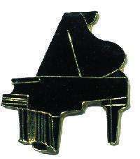 12 Pins - BLACK GRAND PIANO , music lapel pin #4661