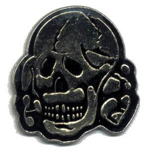 12 Pins - BLACK SKULL , hat lapel pin #1770 Bonanza