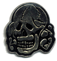 12 Pins - BLACK SKULL , hat lapel pin #1770 - $9.00
