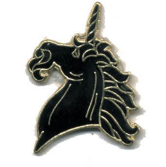 12 Pins - BLACK UNICORN , hat tac lapel pin #2 Bonanza