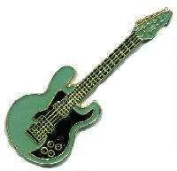 12 Pins - BLUE BASS GUITAR , music lapel pin #4557 Bonanza