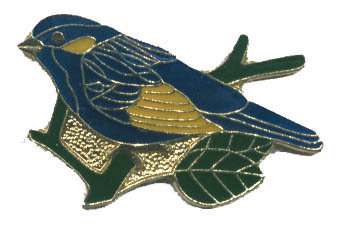 12 Pins - BLUEBIRD , blue bird hat lapel pin #4141 Bonanza