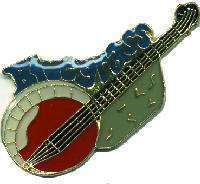 12 Pins - BLUEGRASS BANJO , hat lapel pin #4656 Bonanza