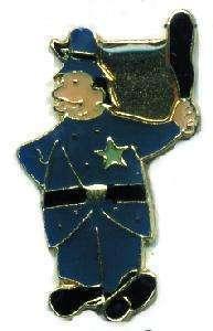 12 Pins - BRITISH BOBBY , policeman police pin #1838 Bonanza