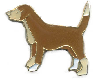 12 Pins - BROWN DOG , hat tac lapel pin #4573