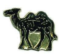 12 Pins - CAMEL , hat tac lapel desert pin #1715