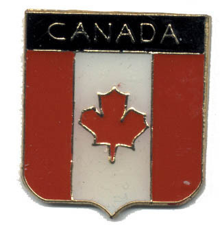12 Pins - CANADA FLAG SHIELD , canadian lapel pin #4749 Bonanza