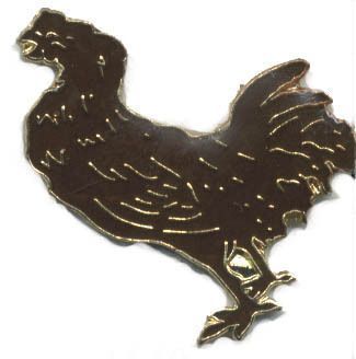 12 Pins - CHICKEN , hen rooster hat lapel pin #4140