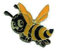 12 Pins - CUTE BEE bumblebee bees hat lapel pin #1902
